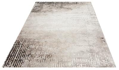 merinos Teppich »Stella«, rechteckig, 12 mm Höhe, Hoch-Tief-Effekt durch Schrumpfgarn,... kaufen