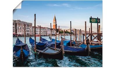 Artland Wandbild »Venedig Canal Grande mit Gondeln« kaufen