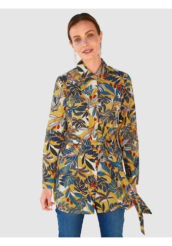 Paola Longbluse, mit modischem Blätterdruck kaufen