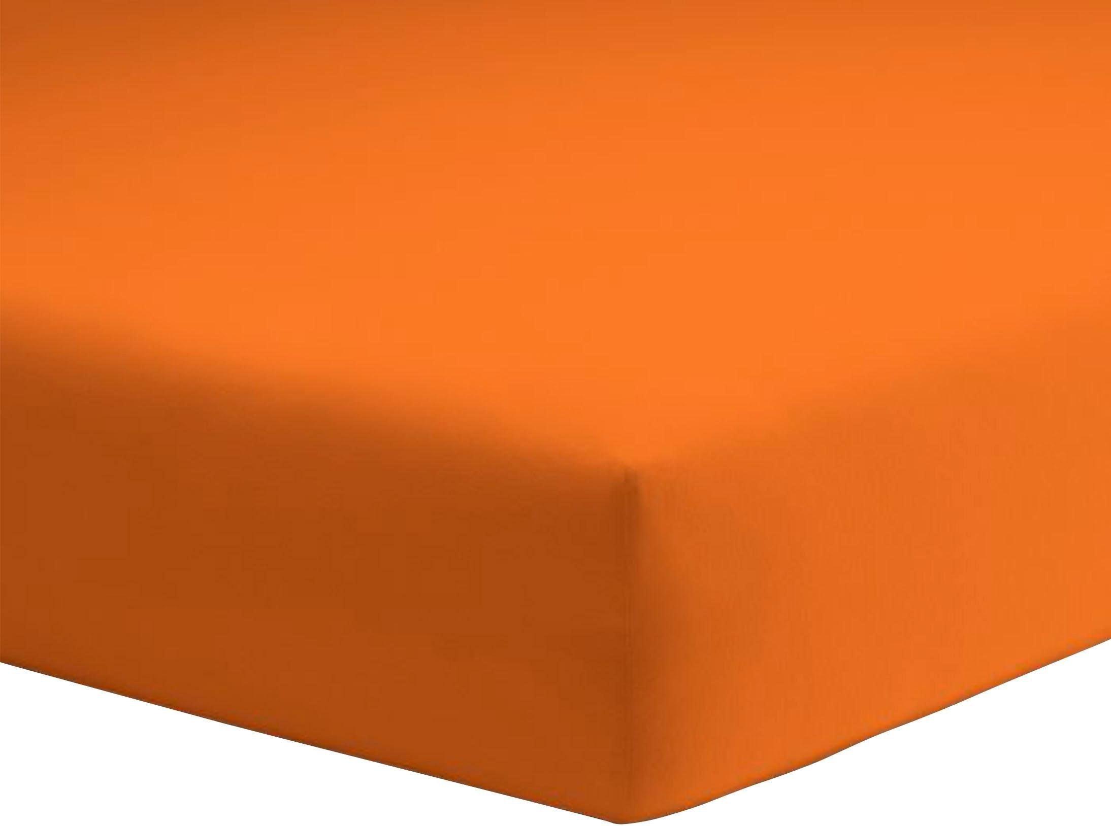 Spannbettlaken Mako-Jersey Schlafgut | Heimtextilien > Bettwäsche und Laken > Bettlaken | Orange | Schlafgut