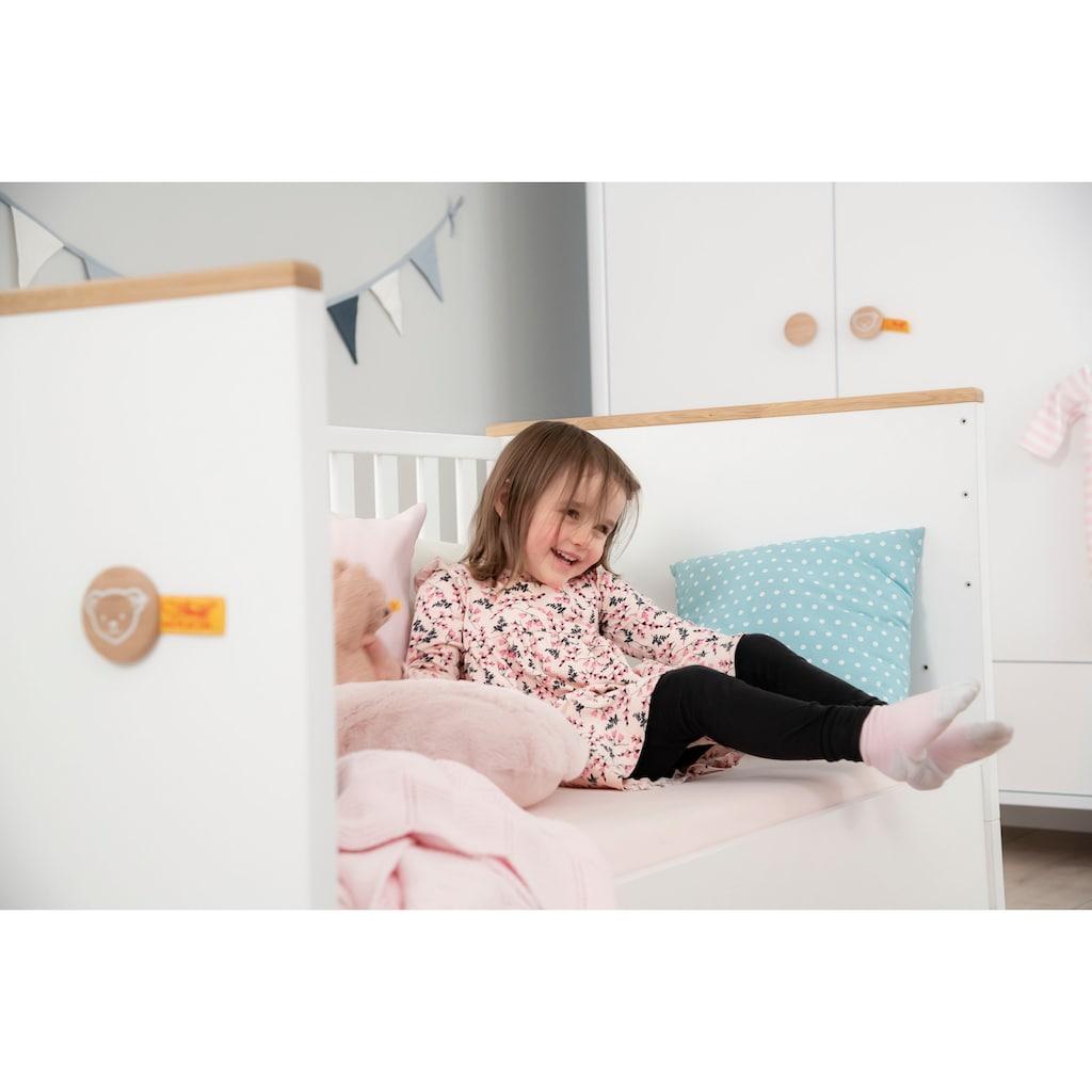 PAIDI Babybett »Lotte & Fynn«, Steiff by Paidi, inklusive PAIDI AIRWELL® 200 Matratze und 4-fach höhenverstellbarem AIRWELL Comfort Lattenrost