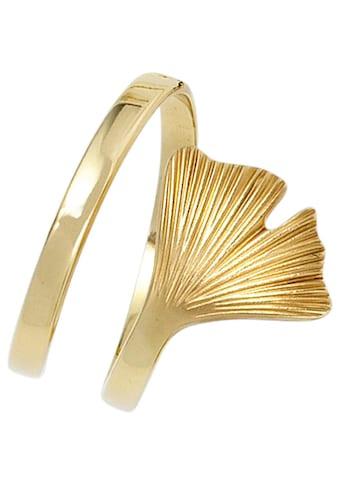 JOBO Goldring »Ginko«, breit 375 Gold kaufen