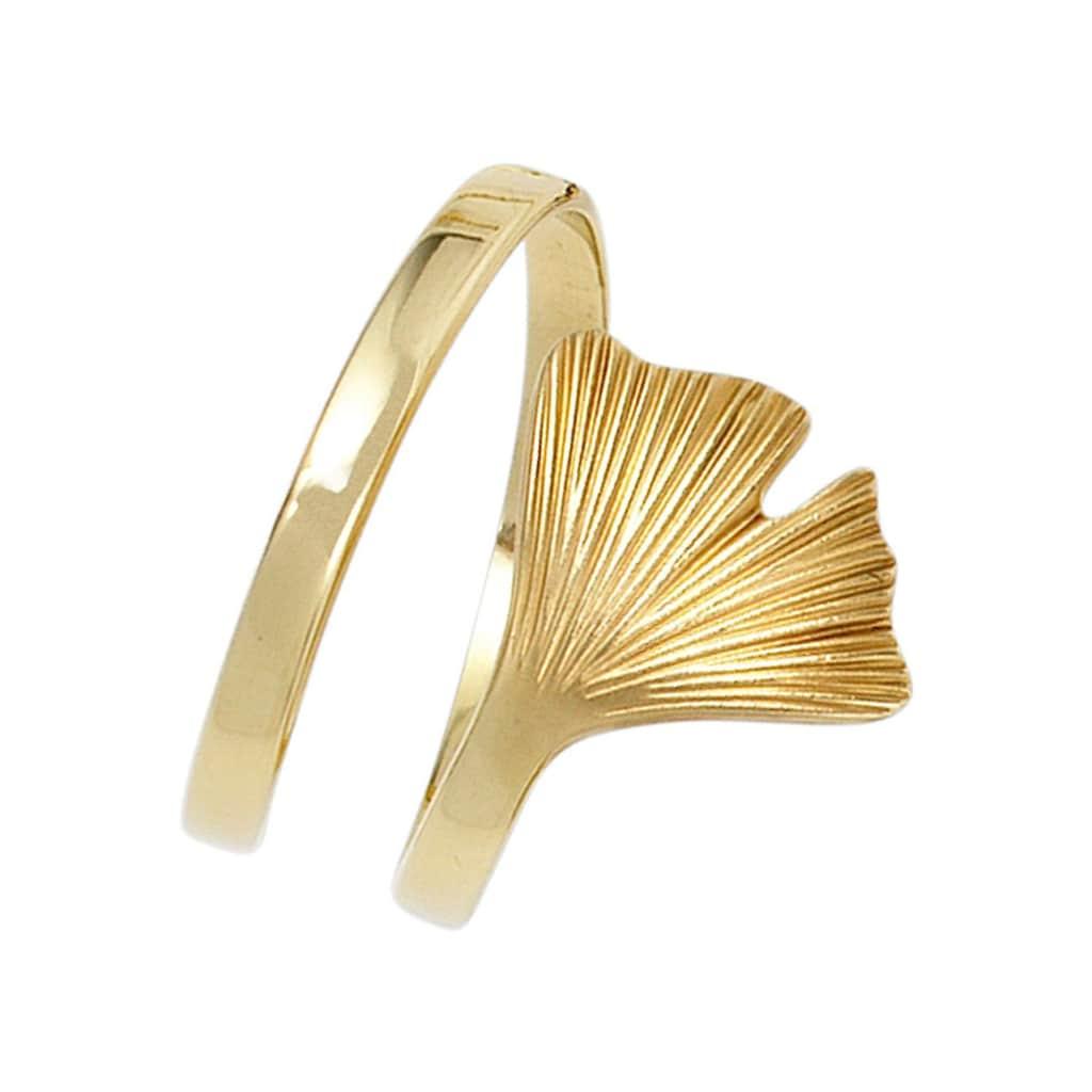 JOBO Goldring »Ginko«, breit 375 Gold