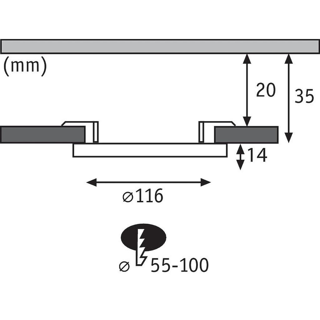 Paulmann LED Einbaustrahler »Cover-it Panel rund 1x6W 3000K Weiß«, 1 St., Warmweiß