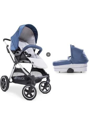 Hauck Kombi-Kinderwagen »iPro Mars Duoset, denim/silver«, mit Babywanne; Kinderwagen kaufen