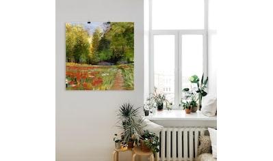 Artland Wandbild »Blumenfeld«, Wiesen & Bäume, (1 St.), in vielen Größen &... kaufen