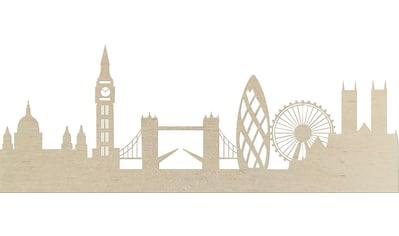 Wanddekoobjekt »Pappel Furnier  -  Skyline London« kaufen