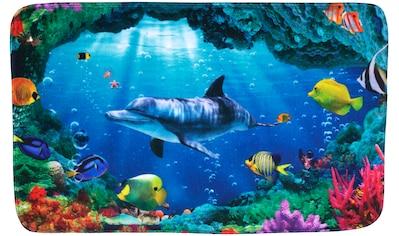 Sanilo Badematte »Delphin Korallen«, Höhe 15 mm, schnell trocknend, Memory Schaum kaufen