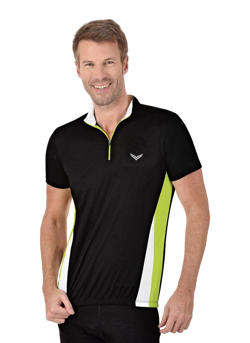 Trigema Fahrradtrikot | Sportbekleidung > Trikots > Fahrradtrikots | Schwarz | Polyester | Trigema