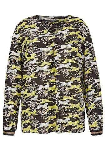 FRAPP Einzigartige Schlupf - Bluse mit Leoparden - Muster Plus Size kaufen
