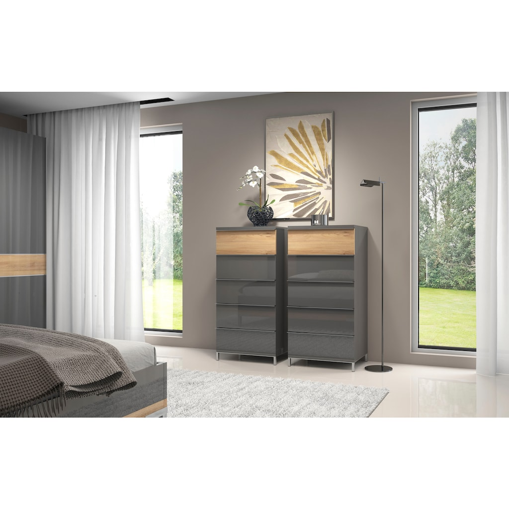 Places of Style Schubkastenkommode »Onyx«, UV lackiert, mit Soft-Close-Funktion