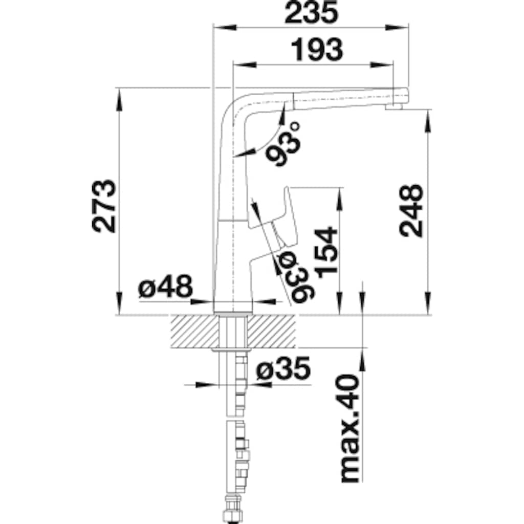 Blanco Küchenarmatur »AVONA-S«, Hochdruck, mit ausziehbarem Auslauf