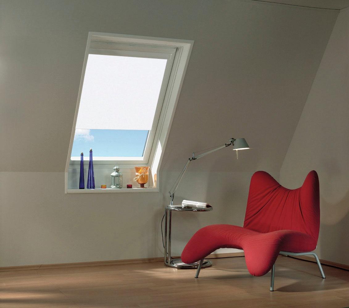GARDINIA Rollo Dachfenster Sonnenschutz Thermo, verdunkelnd, energiesparend-Hitzeschutz weiß Rollos ohne Bohren Jalousien