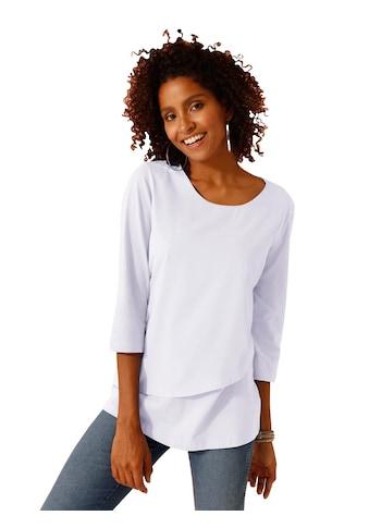 Classic Basics Shirt mit schräg eingesetzter Web - Lage kaufen