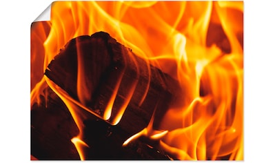 Artland Wandbild »Kaminfeuer 2« kaufen
