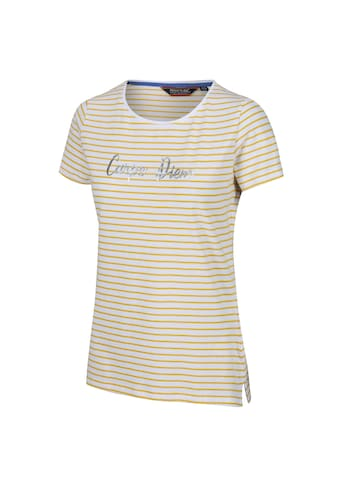 Regatta T-Shirt »Damen Olwyn mit Aufschrift Carpe Diem, gestreift, kurzärmlig« kaufen