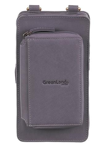 GreenLand Nature Handytasche »NATURE Soft«, mit aufgesetzter Börse und RFID-Schutz kaufen