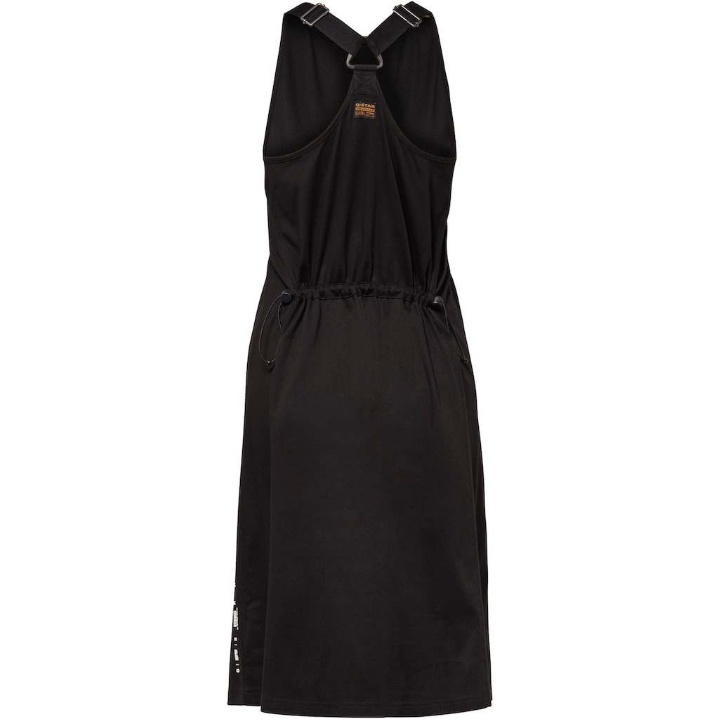 G-Star RAW Jerseykleid »Kleid A-line dungaree dress«, mit verstellbaren Trägern hinten