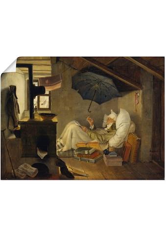 Artland Wandbild »Der arme Poet. 1839«, Mann, (1 St.), in vielen Größen & Produktarten... kaufen