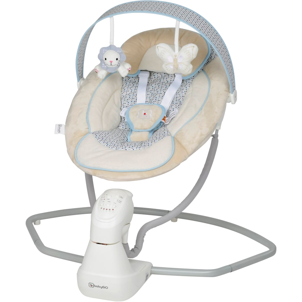 BabyGo Babywippe »Cuddly, beige«, bis 9 kg, elektrisch, mit Sound