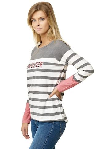 Decay Langarmshirt, mit NOW OR NEVER-Aufdruck kaufen