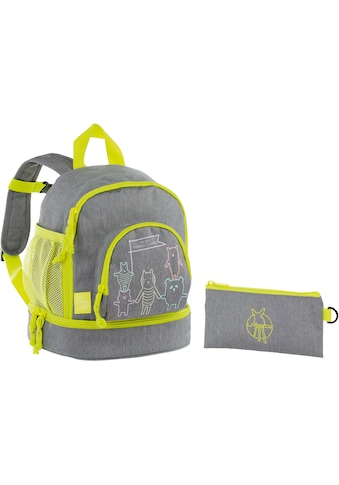 Lässig Kinderrucksack »4Kids Mini Backpack, About Friends Mélange Grey« kaufen