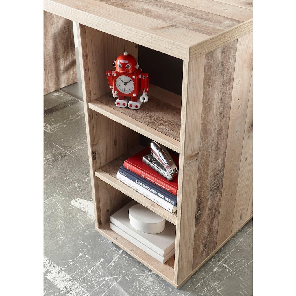 Schreibtisch »Leni«, mit Seilgriffen, im modernen Dekor Old Style hell