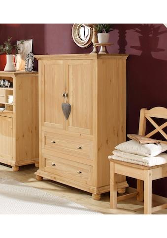 Home affaire Wäscheschrank »Irena«, aus Massivholz, mit zwei Türen und zwei... kaufen
