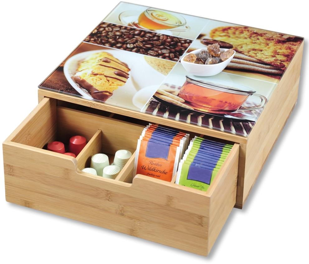 KESPER for kitchen & home Aufbewahrungsbox, 8 Fächer braun Kleideraufbewahrung Aufbewahrung Ordnung Wohnaccessoires Aufbewahrungsbox