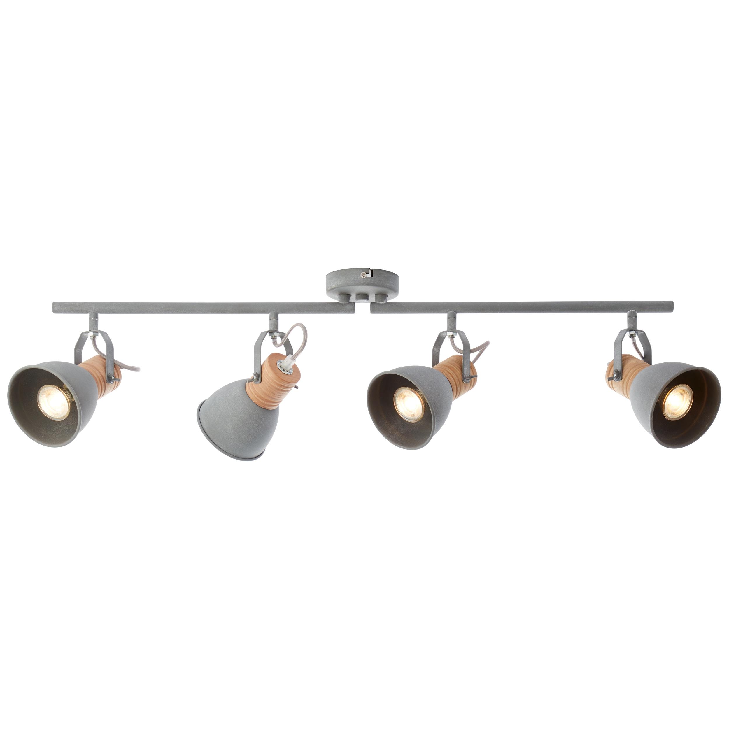 Brilliant Leuchten Frieda LED Spotrohr 4flg holz antik/beton