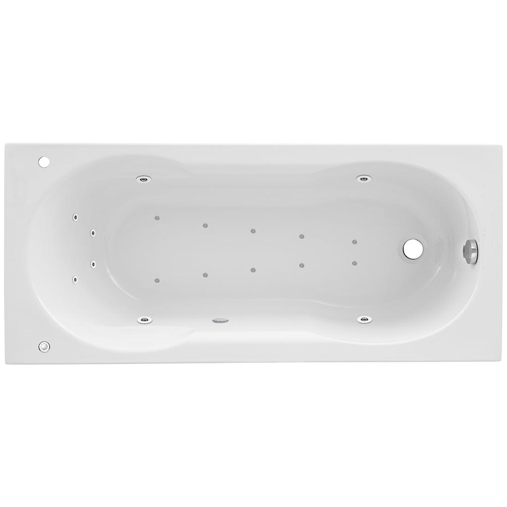 OTTOFOND Whirlpool-Badewanne »Julia«, Typ 2, chrom