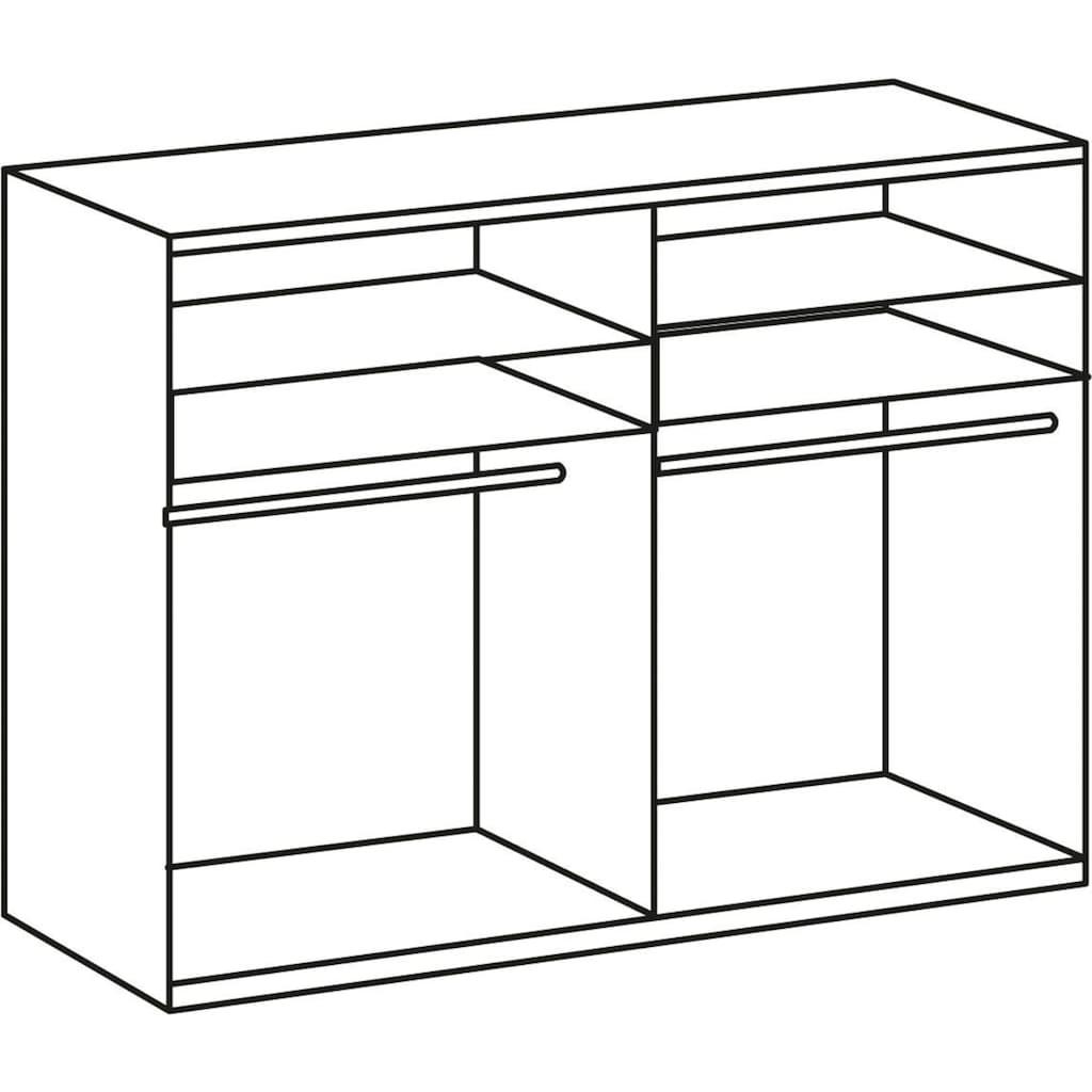 Wimex Schwebetürenschrank »Bramfeld«, mit Glaselementen und zusätzlichen Einlegeböden