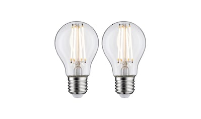 Paulmann LED-Leuchtmittel »Standardform 7 Watt E27 Klar Warmweiß«, E27, 2 St., Warmweiß kaufen