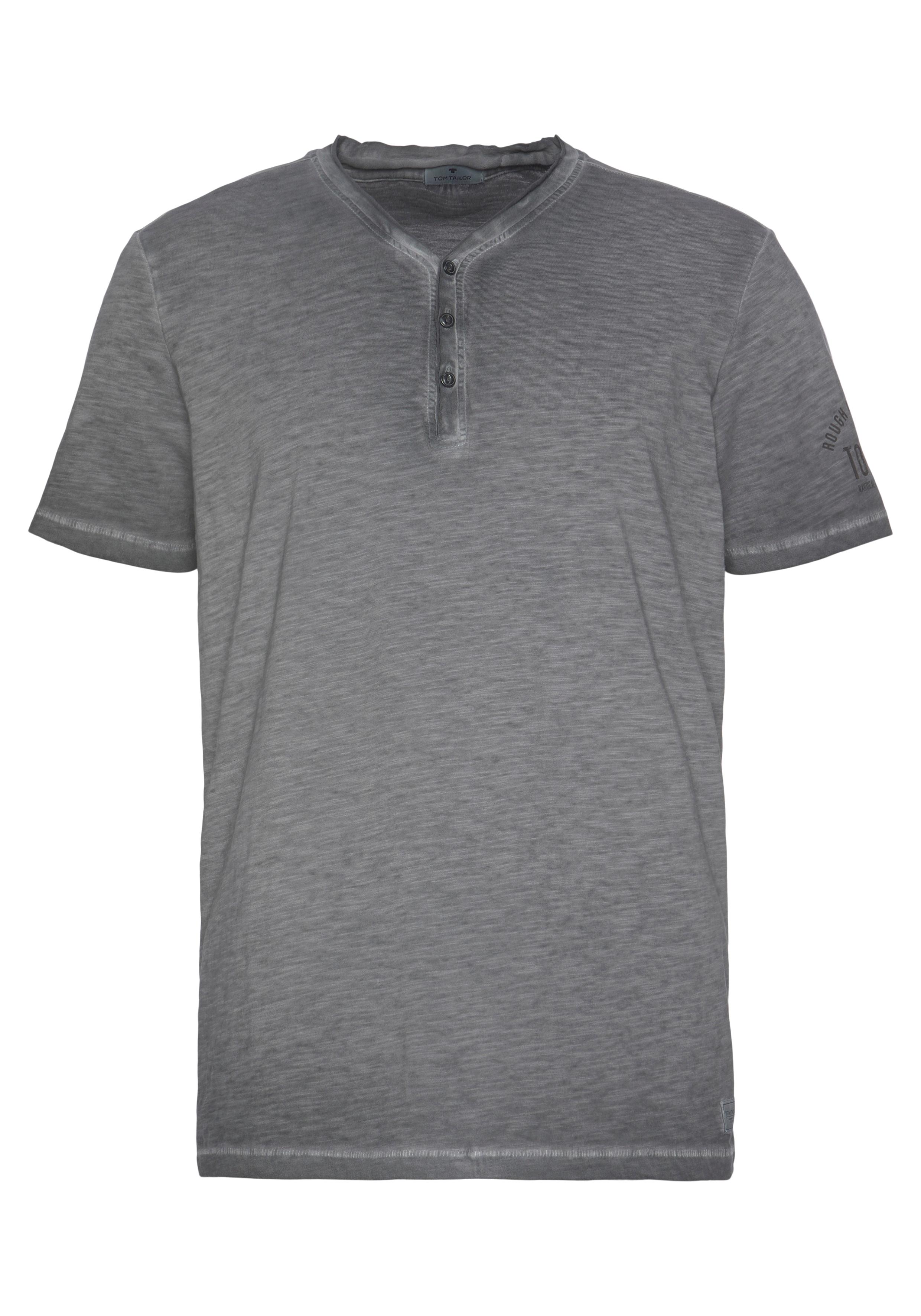 tom tailor -  T-Shirt, mit Knopfleiste