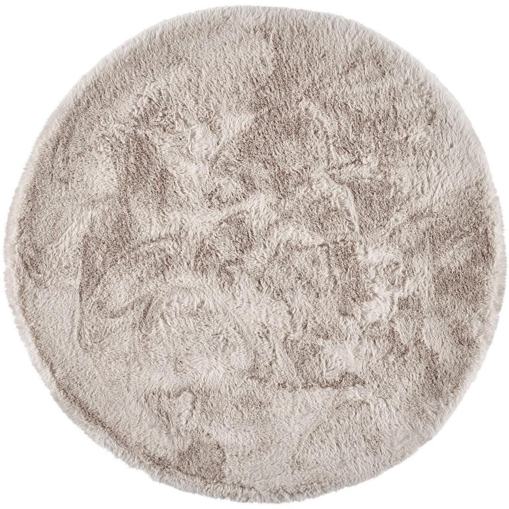 Dekowe Hochflor-Teppich »Roger Deluxe«, rund, 33 mm Höhe, Kunstfell, Kaninchenfell-Haptik, Wohnzimmer