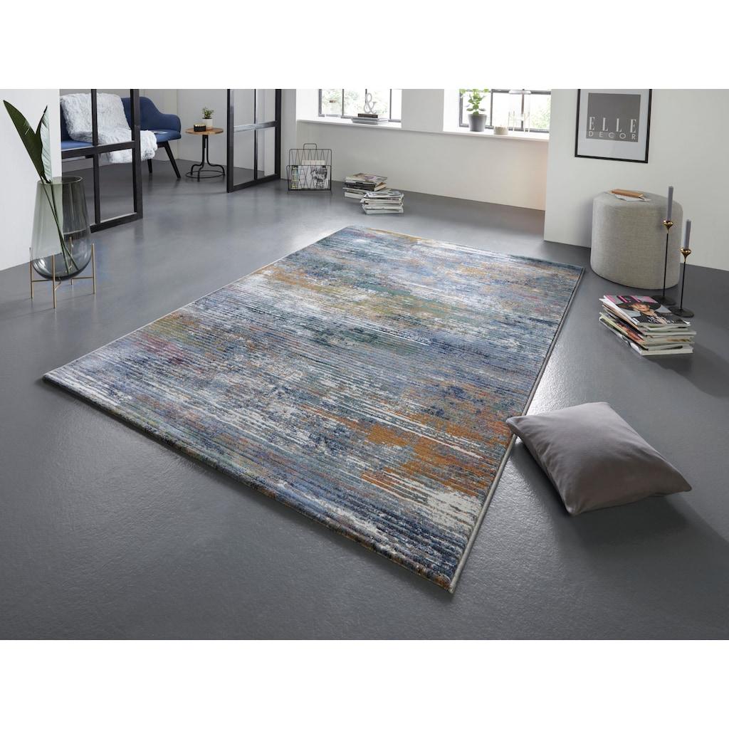 ELLE Decor Teppich »Trappes«, rechteckig, 11 mm Höhe, Kurzflor, Relief Optik, Wohnzimmer