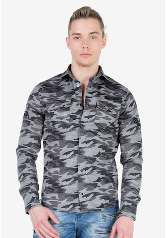 Cipo & Baxx Langarmshirt, mit Markenaufnäher kaufen