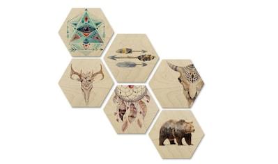 Wall-Art Mehrteilige Bilder »Bohemian Kultur Boho Set XL«, (Set, 6 St.) kaufen