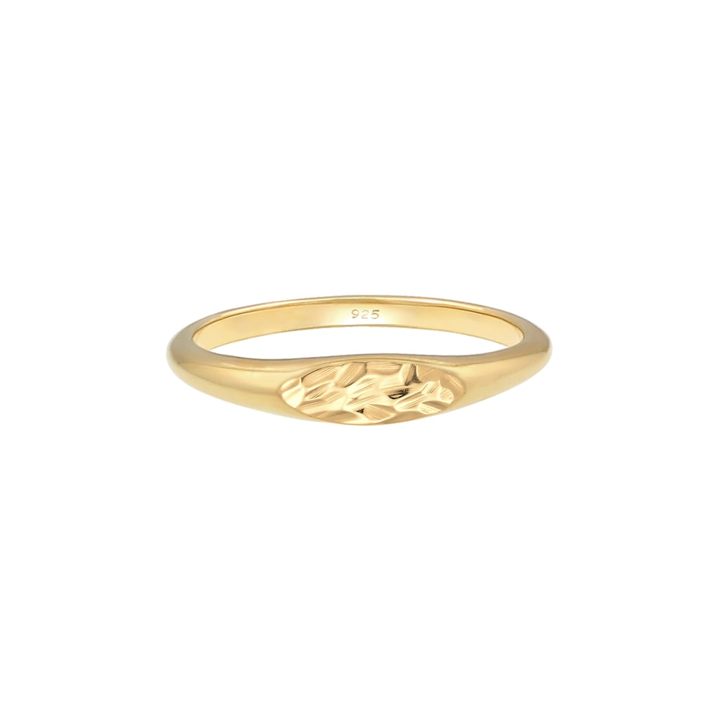 Elli Siegelring »Siegelring Oval Pinky Ring 925 Silber«