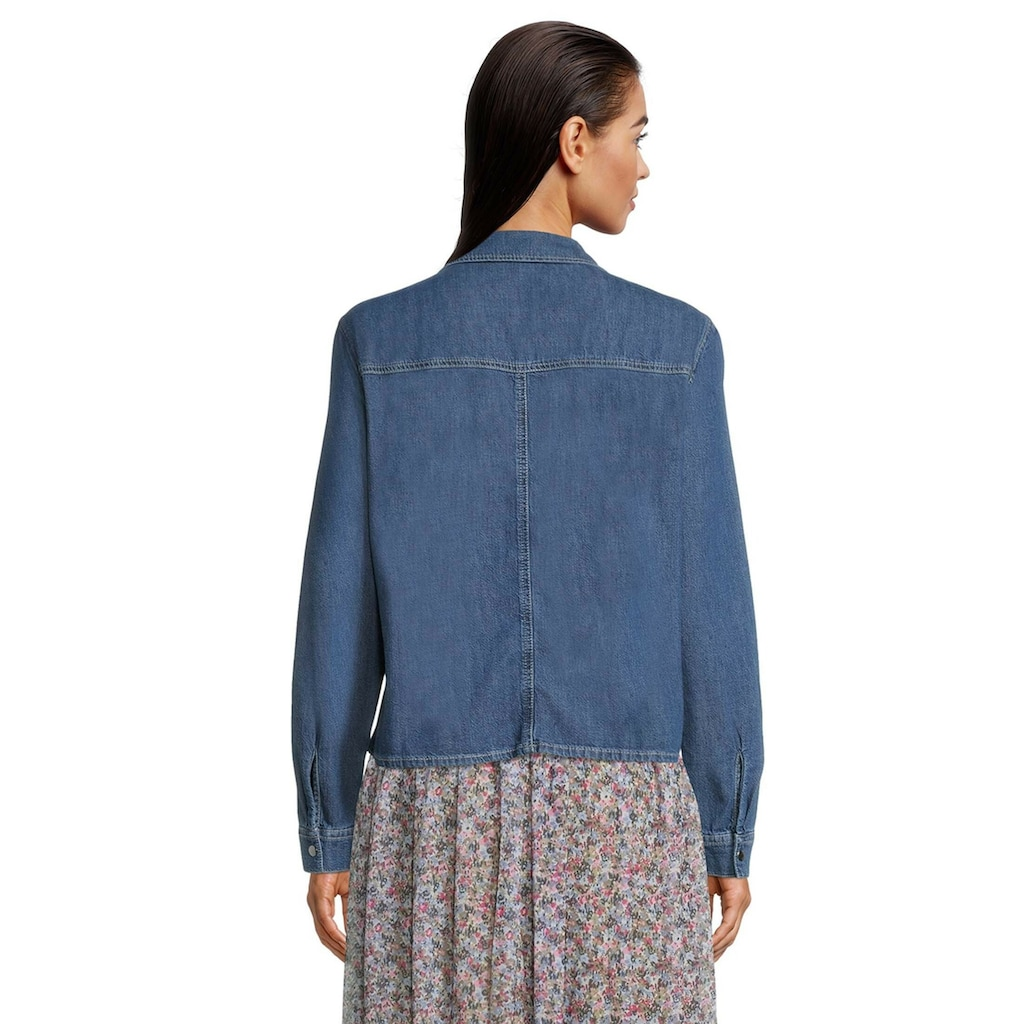 Betty&Co Jeansbluse »langarm«