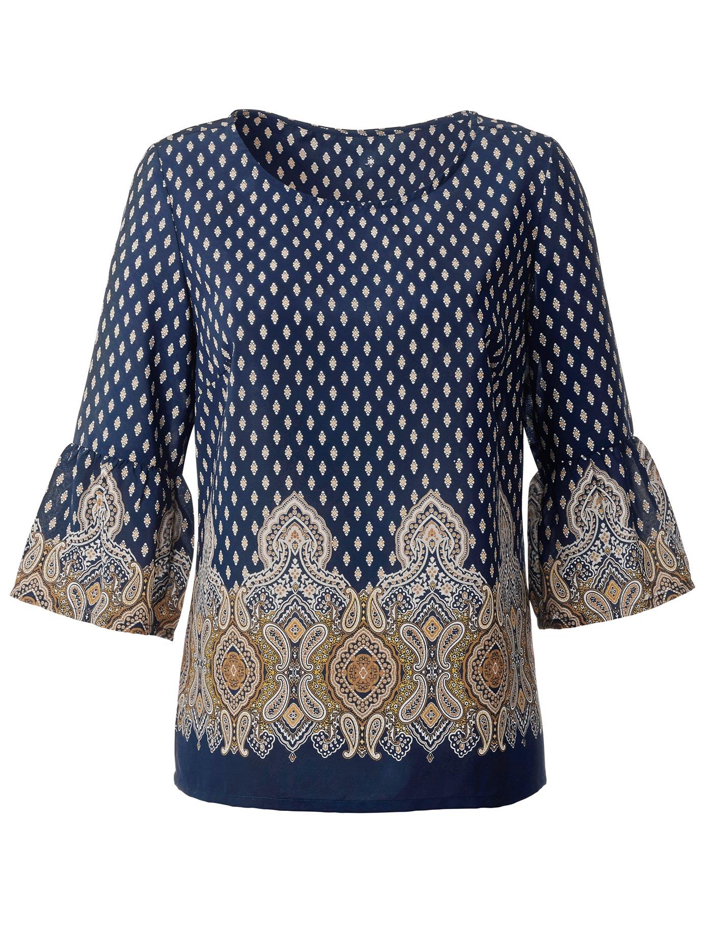 Classic Inspirationen Bluse im hübschen Paisleymuster