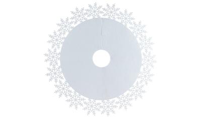 Baumteppich, »Schneeflocke«, , rund, Höhe 4 mm kaufen