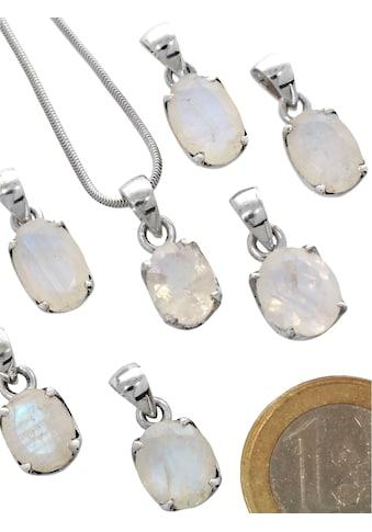 Adelia´s Kettenanhänger »Regenbogenmondstein Anhänger 925 Silber« kaufen