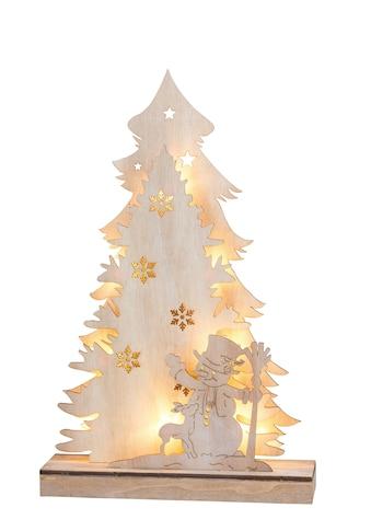 HGD Holz - Glas - Design 3D - Weihnachtbaum mit Schneemann Country Style kaufen