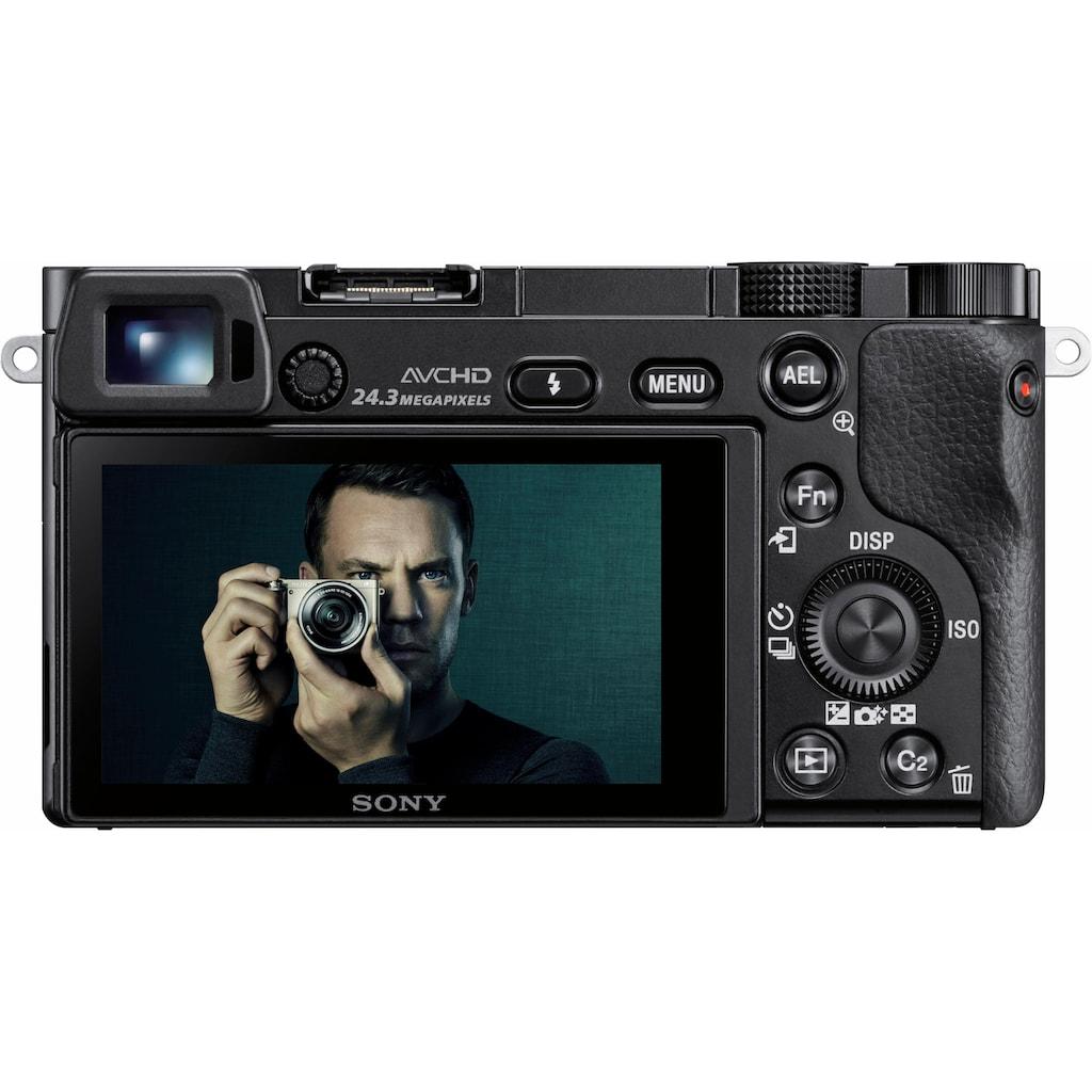 Sony Systemkamera »Alpha ILCE-6000Y Set«, Sony 16-50, Sony 55-210, WLAN (Wi-Fi), Gesichtserkennung, HDR-Aufnahme