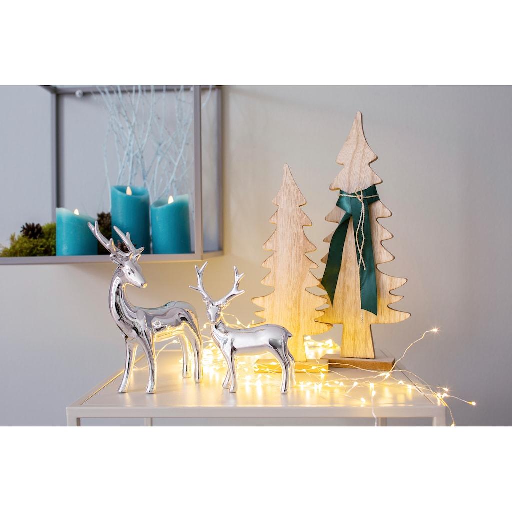 LED-Kerze, aus Echtwachs, mit Dimmfunktion und Timer
