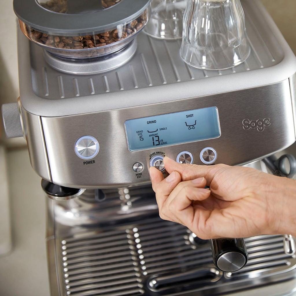 Sage Espressomaschine »»The Barista Pro, SES878BSS4EEU1««, Gebürstetes Edelstahl