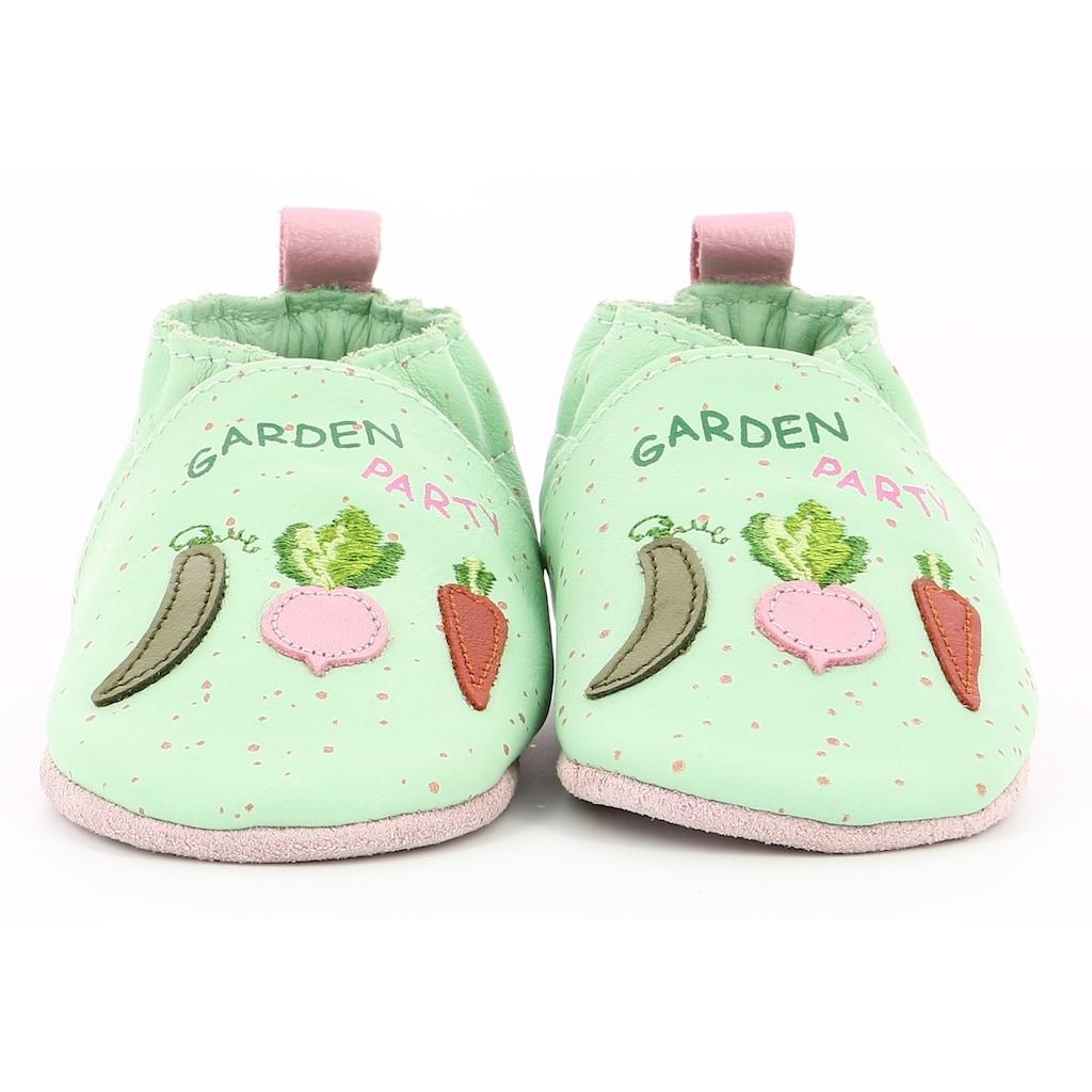 Robeez Krabbelschuh »Chic Garden«, mit Gemüse verziert