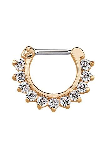 Adelia´s Nasenpiercing »Septum Clicker Nasenpiercing rosegold, 11 klare Steine«, mit... kaufen