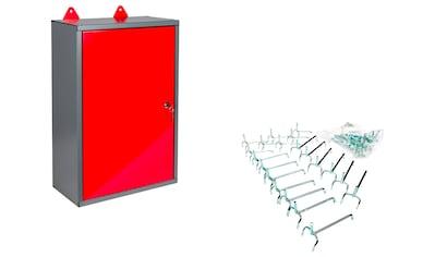 KREHER Werkzeugschrank (B/T/H): 40x19x60 cm, 1 - türig, inkl. 20 Lochwandhaken kaufen
